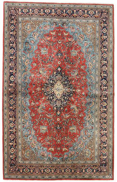 Sarough Teppich  133X211 Echter Orientalischer Handgeknüpfter Dunkelgrau/Hellgrau (Wolle, Persien/Iran)