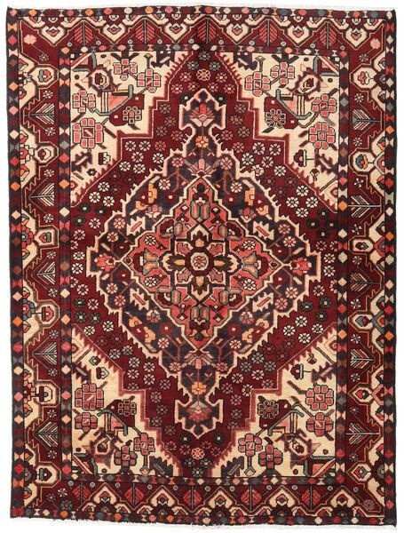 Bachtiar Teppich  156X207 Echter Orientalischer Handgeknüpfter Dunkelrot/Dunkelbraun (Wolle, Persien/Iran)