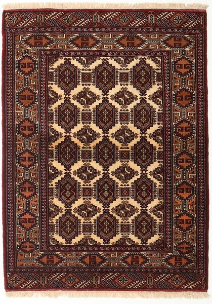Turkaman Teppich  118X161 Echter Orientalischer Handgeknüpfter Dunkelrot/Dunkelbraun (Wolle, Persien/Iran)
