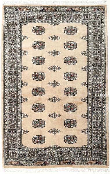 Pakistan Buchara 2Ply Teppich  123X188 Echter Orientalischer Handgeknüpfter Beige/Dunkelgrau (Wolle, Pakistan)