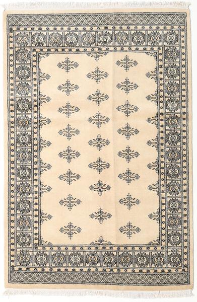 Pakistan Buchara 2Ply Teppich  123X184 Echter Orientalischer Handgeknüpfter Beige/Hellgrau (Wolle, Pakistan)