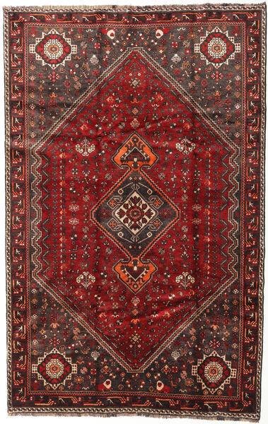 Shiraz Teppich  174X269 Echter Orientalischer Handgeknüpfter Dunkelrot/Dunkelbraun (Wolle, Persien/Iran)