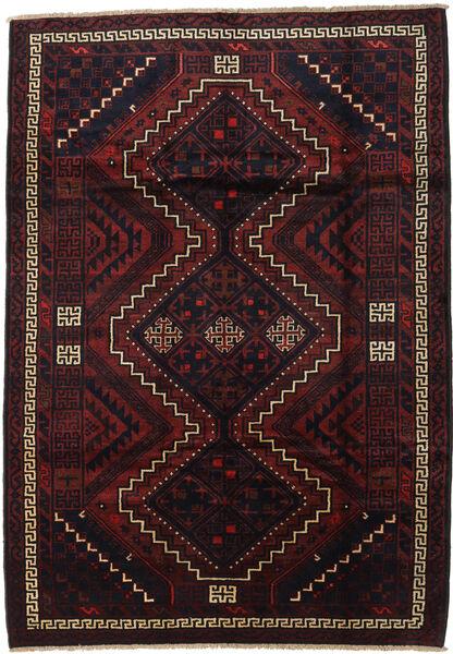 Lori Rug 195X275 Authentic  Oriental Handknotted Dark Red (Wool, Persia/Iran)