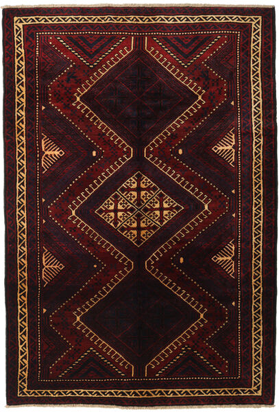 Lori Rug 188X270 Authentic  Oriental Handknotted Dark Red (Wool, Persia/Iran)