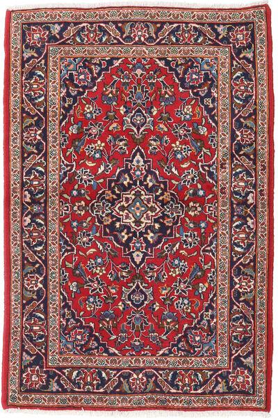 カシャン 絨毯 100X152 オリエンタル 手織り 深紅色の/濃い紫 (ウール, ペルシャ/イラン)