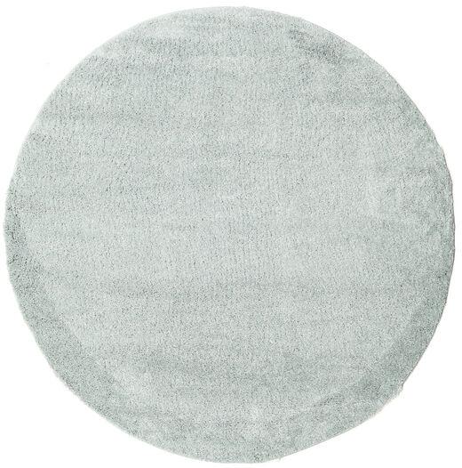 Shaggy Cosy Everyday - Mint Rug Ø 200 Modern Round Light Grey/White/Creme ( Turkey)
