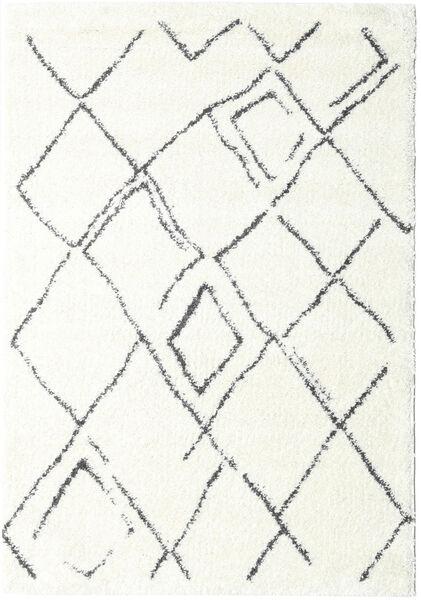 Shaggy Medina Everyday Dywan 160X230 Nowoczesny Biały/Creme/Beżowy ( Turcja)