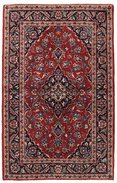 Keshan Tappeto 95X150 Orientale Fatto A Mano Rosso Scuro/Blu Scuro (Lana, Persia/Iran)