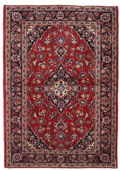 カシャン 絨毯 102X147 オリエンタル 手織り 深紅色の/濃い茶色 (ウール, ペルシャ/イラン)