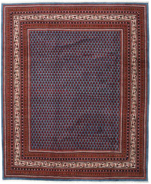 Saruk Mir Tappeto 214X257 Orientale Fatto A Mano Rosso Scuro/Blu (Lana, Persia/Iran)
