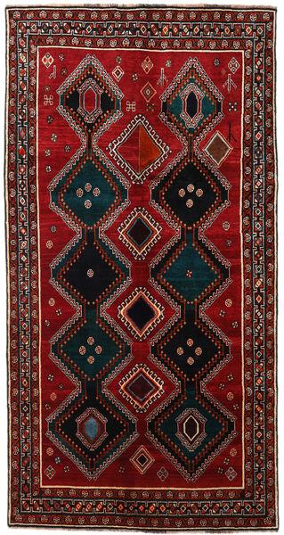 Ghashghai Tappeto 145X278 Orientale Fatto A Mano Alfombra Pasillo Marrone Scuro/Rosso Scuro (Lana, Persia/Iran)