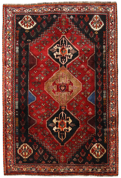 Ghashghai Tappeto 163X241 Orientale Fatto A Mano Rosso Scuro/Marrone Scuro (Lana, Persia/Iran)