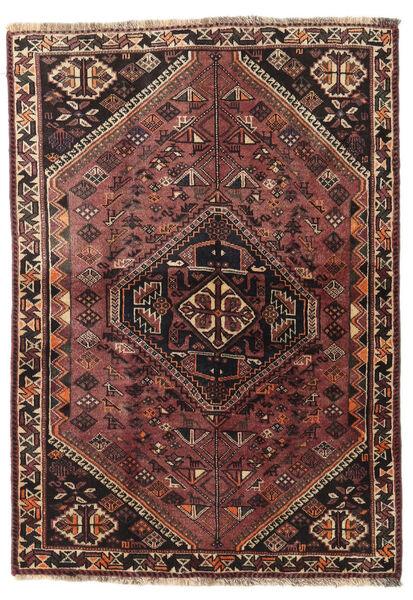 Ghashghaï Tapis 107X150 D'orient Fait Main Marron Foncé/Rouge Foncé (Laine, Perse/Iran)