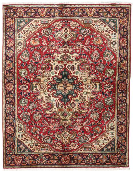 Tabriz Tappeto 143X184 Orientale Fatto A Mano Rosso Scuro/Marrone Scuro (Lana, Persia/Iran)