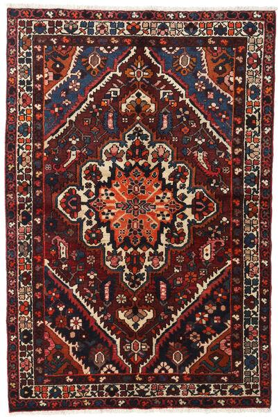 Bakhtiar Tappeto 140X210 Orientale Fatto A Mano Nero/Rosso Scuro (Lana, Persia/Iran)