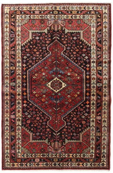 Hamadan Tappeto 130X200 Orientale Fatto A Mano Rosso Scuro/Marrone Scuro (Lana, Persia/Iran)