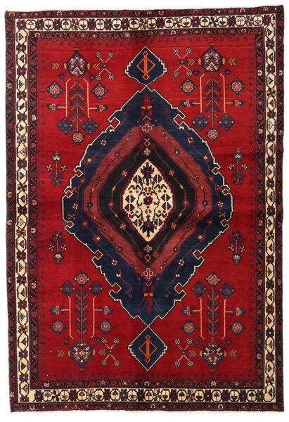 Afshar Tappeto 160X230 Orientale Fatto A Mano Rosso Scuro/Blu Scuro/Rosso (Lana, Persia/Iran)