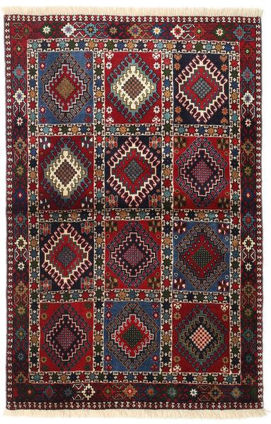 Yalameh Tapis 100X154 D'orient Fait Main Rouge Foncé/Noir (Laine, Perse/Iran)