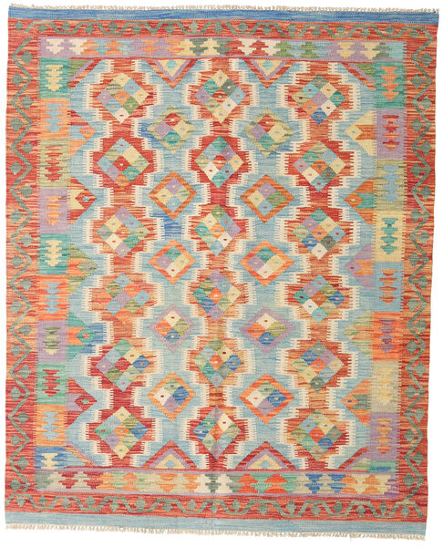 Kilim Afghan Old Style Rug 158X190 Authentic  Oriental Handwoven Light Green/Crimson Red (Wool, Afghanistan)