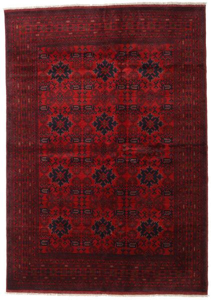 アフガン Khal Mohammadi 絨毯 205X289 オリエンタル 手織り 深紅色の/赤 (ウール, アフガニスタン)