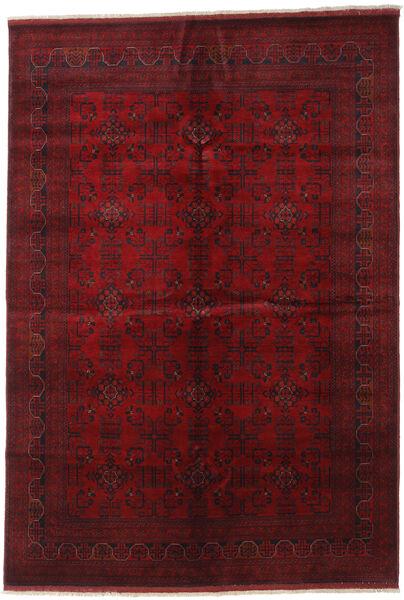 アフガン Khal Mohammadi 絨毯 198X287 オリエンタル 手織り 深紅色の (ウール, アフガニスタン)