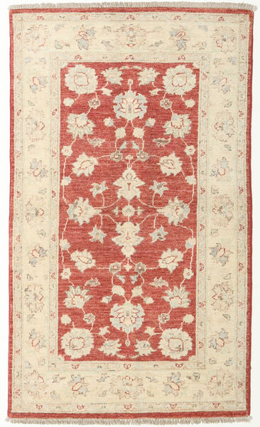 Ziegler Rug 88X150 Authentic  Oriental Handknotted Beige/Rust Red (Wool, Afghanistan)