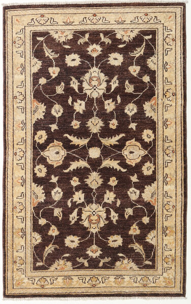 Ziegler Rug 90X146 Authentic  Oriental Handknotted Dark Brown/Brown (Wool, Afghanistan)