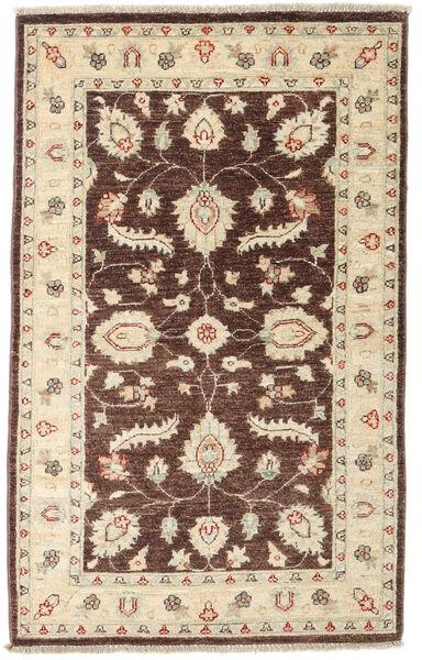 Ziegler Matto 89X145 Itämainen Käsinsolmittu Tummanpunainen/Beige/Tummanbeige (Villa, Afganistan)