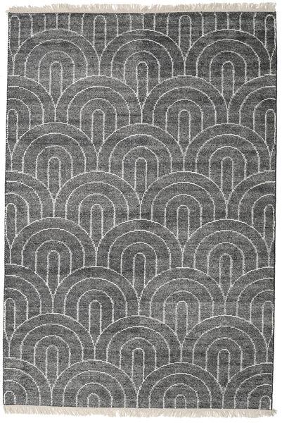 Vanya - Charcoal/Cream Teppe 160X230 Ekte Moderne Håndknyttet Mørk Grå/Lys Grå ( India)