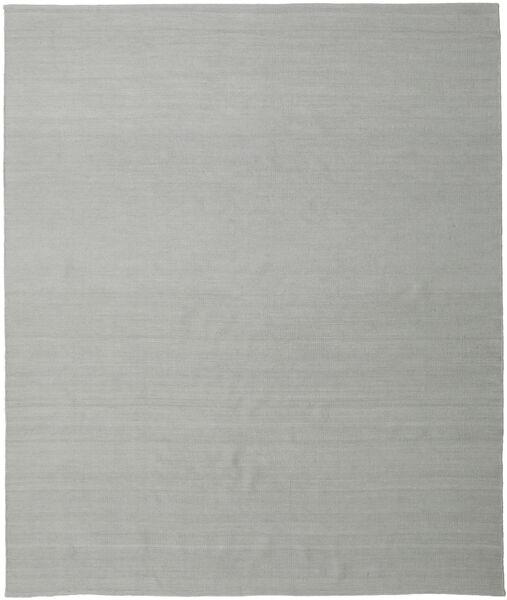 Ćilim Loom - Siva Sag 250X300 Autentični  Moderni Ručno Tkani Tirkizno Plava/Svjetlosiva Veliki (Vuna, Indija)