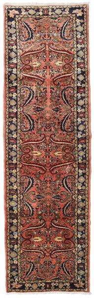 Lillian Rug 87X292 Authentic  Oriental Handknotted Hallway Runner  Dark Brown/Light Brown (Wool, Persia/Iran)
