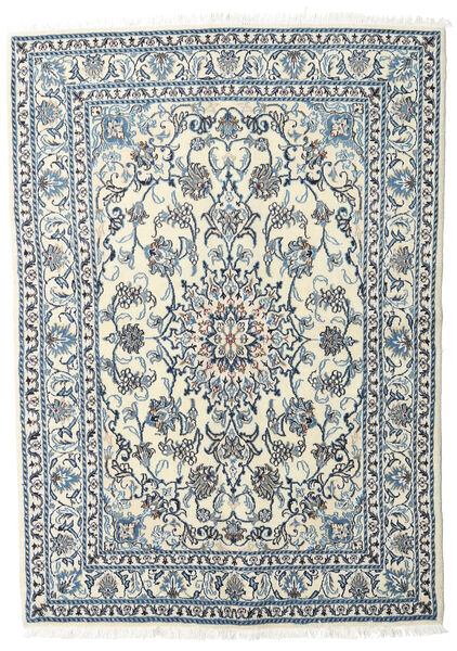 Nain Rug 160X215 Authentic  Oriental Handknotted Light Grey/Beige (Wool, Persia/Iran)
