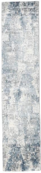 Triad - Grey/Blue Rug 80X350 Modern Hallway Runner  Light Grey/Beige ( Turkey)