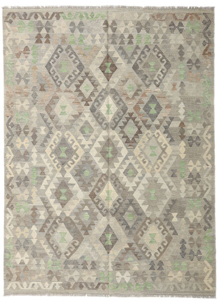 Kilim Afghan Old Style Rug 178X242 Authentic  Oriental Handwoven Light Grey/Olive Green (Wool, Afghanistan)