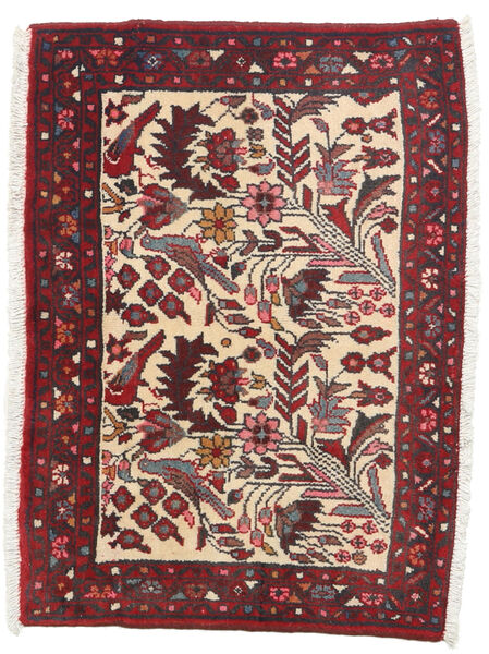 Hamadan Rug 70X98 Authentic  Oriental Handknotted Dark Brown/Dark Red (Wool, Persia/Iran)