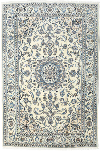 Nain Teppe 196X295 Ekte Orientalsk Håndknyttet Lys Grå/Beige (Ull, Persia/Iran)