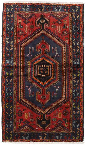 Hamadan Rug 126X216 Authentic  Oriental Handknotted Dark Blue/Dark Red (Wool, Persia/Iran)
