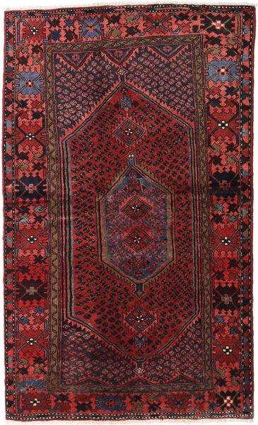 Hamadan Dywan 132X218 Orientalny Tkany Ręcznie Ciemnoczerwony/Czarny (Wełna, Persja/Iran)