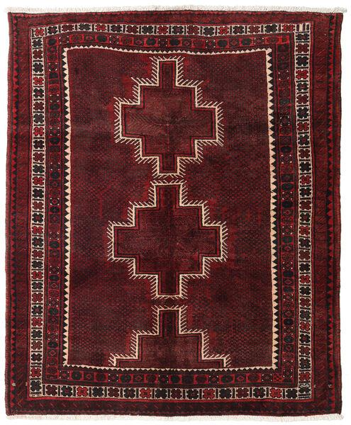 Hamadan Rug 143X175 Authentic  Oriental Handknotted Dark Red/Dark Brown (Wool, Persia/Iran)