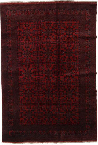 Afghan Khal Mohammadi Matta 198X289 Äkta Orientalisk Handknuten Mörkröd (Ull, Afghanistan)