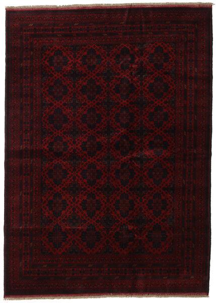 Afghan Khal Mohammadi Matta 205X282 Äkta Orientalisk Handknuten Mörkbrun/Mörkröd (Ull, Afghanistan)