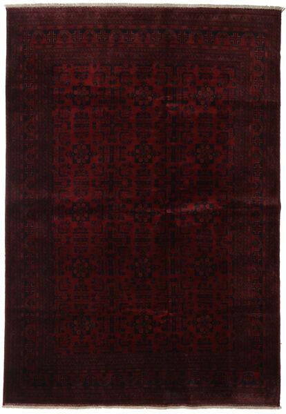 Afghan Khal Mohammadi Rug 205X298 Authentic  Oriental Handknotted Dark Brown/Dark Red (Wool, Afghanistan)
