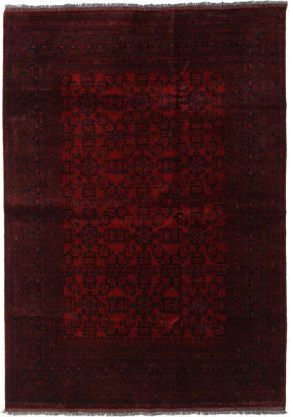 Afghan Khal Mohammadi Rug 205X291 Authentic  Oriental Handknotted Dark Brown/Dark Red (Wool, Afghanistan)