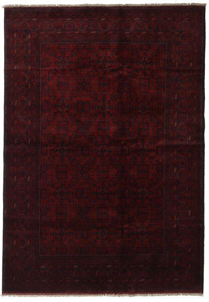 Afghan Khal Mohammadi Matta 199X286 Äkta Orientalisk Handknuten Mörkröd (Ull, Afghanistan)