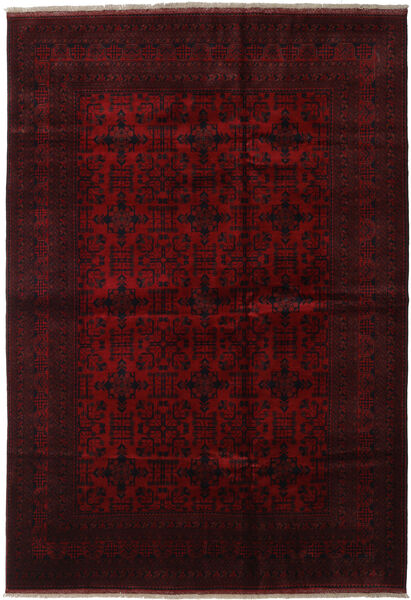 Afghan Khal Mohammadi Rug 206X296 Authentic  Oriental Handknotted Dark Brown/Dark Red (Wool, Afghanistan)