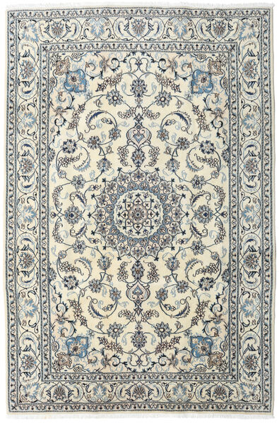 Nain Rug 197X300 Authentic  Oriental Handknotted Light Grey/Beige (Wool, Persia/Iran)