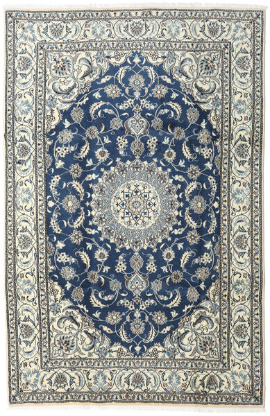 Nain Rug 200X300 Authentic  Oriental Handknotted Beige/Dark Grey (Wool, Persia/Iran)