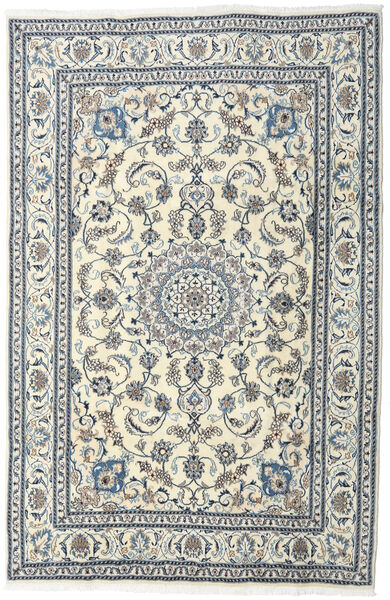 Nain Rug 195X297 Authentic  Oriental Handknotted Beige/Light Grey (Wool, Persia/Iran)