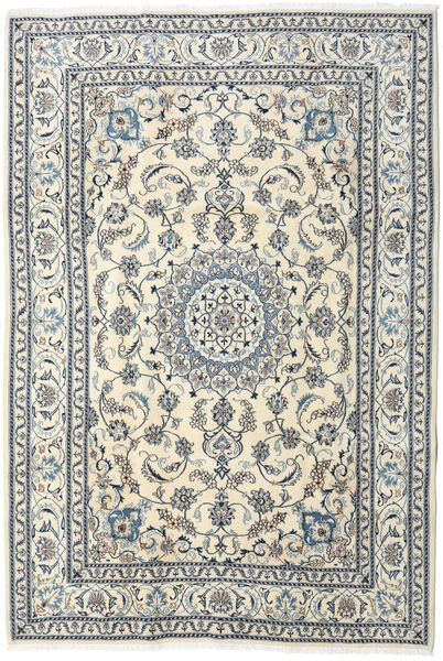 Nain Rug 205X300 Authentic  Oriental Handknotted Beige/Light Grey (Wool, Persia/Iran)