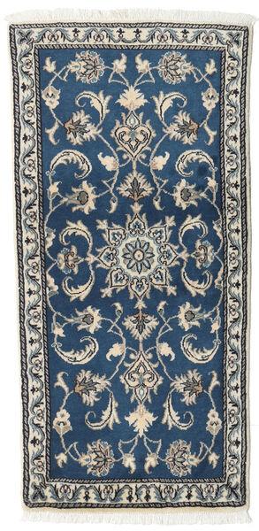 Nain Matta 65X138 Äkta Orientalisk Handknuten Mörkblå/Ljusgrå (Ull, Persien/Iran)